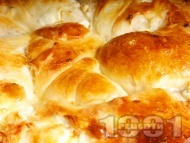 Рецепта Домашен тутманик с яйца и сирене